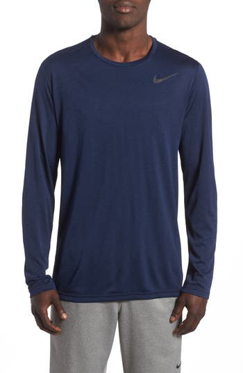 Nike Long Sleeve Training T-Shirt, Blue