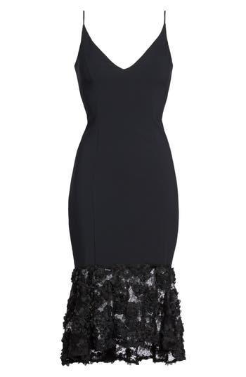 Maria Bianca Nero Milly Lace Flounce Slipdress, Black