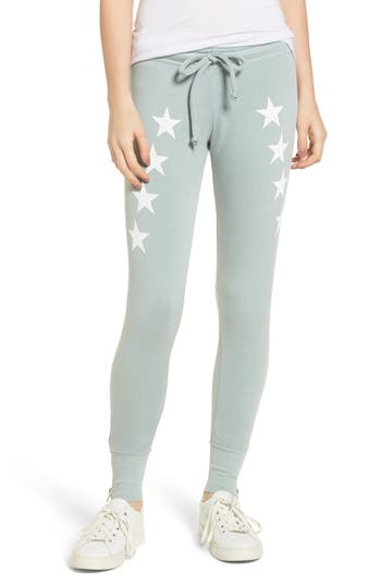 Women's Wildfox Cosmos Fame Jogger Pants, Size X-Small - Blue