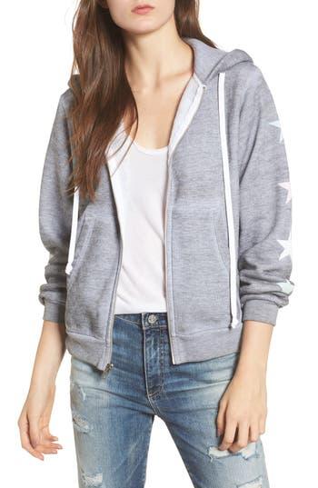 Women's Wildfox Starlight Regan Zip Hoodie, Size X-Small - Grey