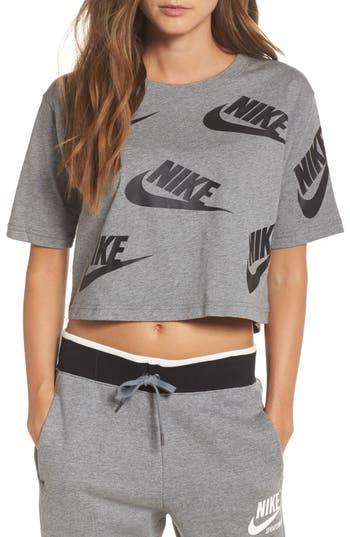 Nike Sportswear Futura Crop Tee, Grey