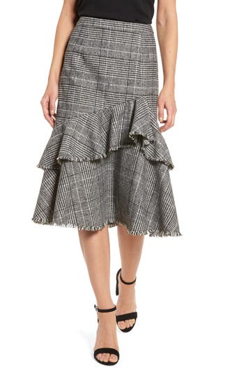 Women's Halogen Ruffle Plaid Skirt at NORDSTROM.com