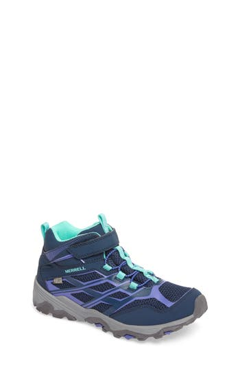 Infant Girls Merrell Moab Fst Polar Mid Insulated Waterproof Sneaker Boot Size 4 M  Blue