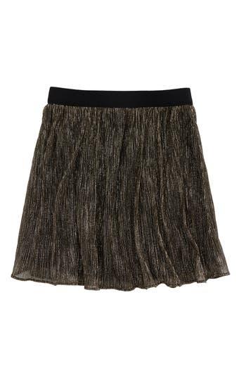 Girl's Maddie Pleated Metallic Skirt, Size S (7-8) - Metallic