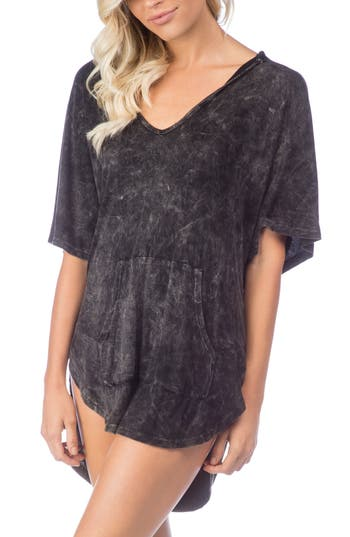 Green Dragon Riviera Hooded Cover-Up, Black