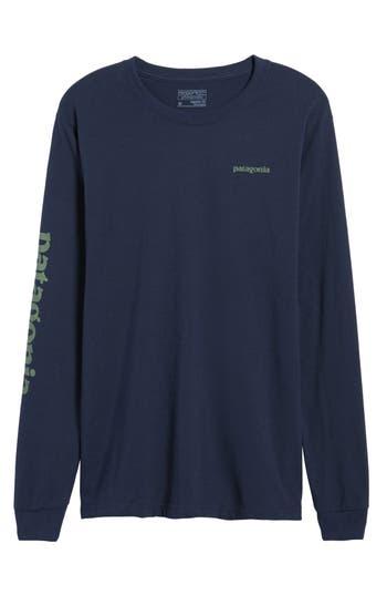 Patagonia Long Sleeve Logo T-Shirt, Blue