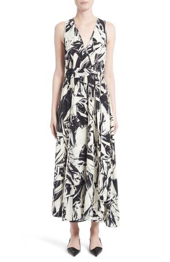 Proenza Schouler Print Silk Georgette Maxi Dress, Black