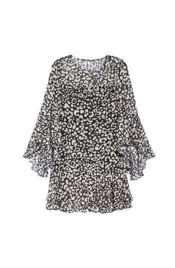 Eliza J Bell Sleeve A-Line Dress, Black