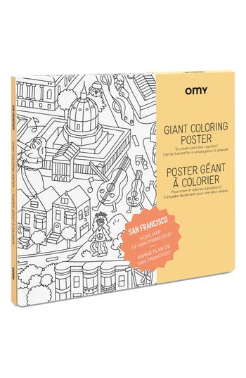 Omy San Francisco Giant Coloring Poster