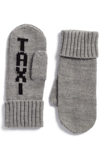 Kate Spade New York Taxi Mittens, Size One Size - Grey