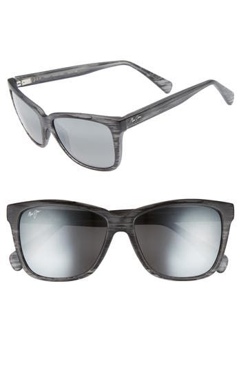 Maui Jim 5m Jacaranda Polarized Sunglasses - Matte Grey Stripe