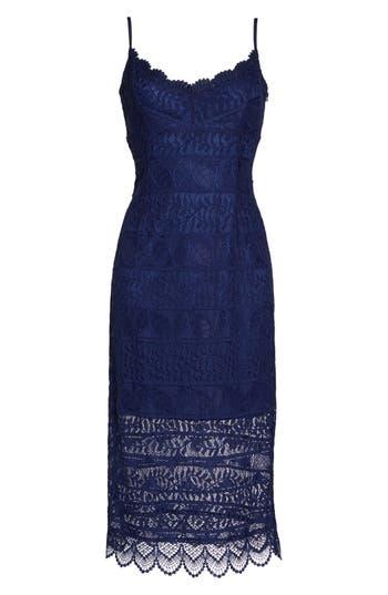 Nsr Floral Lace Slipdress, Blue