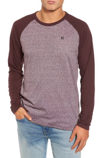 Hurley Still Raglan Sleeve T-Shirt, Burgundy