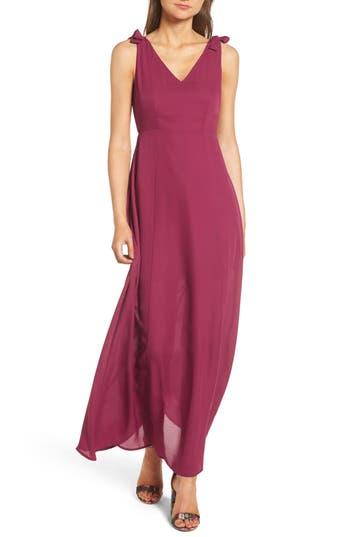 Dee Elly Tie Strap Maxi Dress, Purple