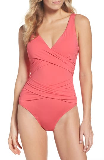 Tommy Bahama Pearl One-Piece Swimsuit, Coral