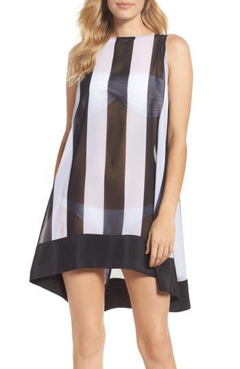 Ted Baker London Monochrome Stripe Cover-Up Dress, Black