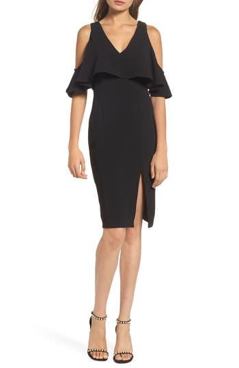 Greylin Selah Cold Shoulder Sheath Dress, Black