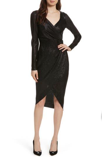 Tracy Reese Sexy Surplice Dress, Black