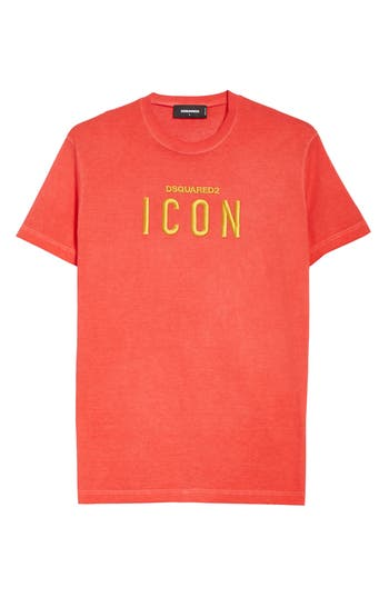 Dsquared2 Icon Embroidered T-Shirt, Red