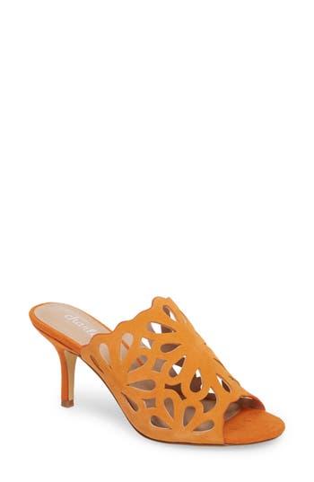 Charles By Charles David Nicki Perforated Open Toe Mule, Orange