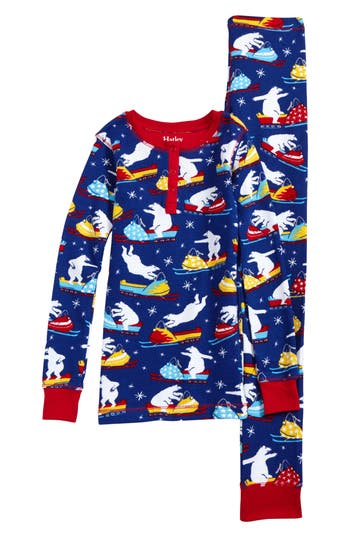 Toddler Boys Hatley Thermal Organic Cotton Fitted TwoPiece Pajamas