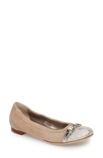 Agl Cap Toe Ballet Flat, Metallic