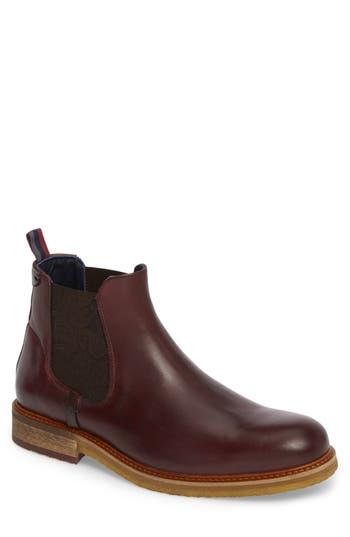 Ted Baker London Bronzo Chelsea Boot, Burgundy