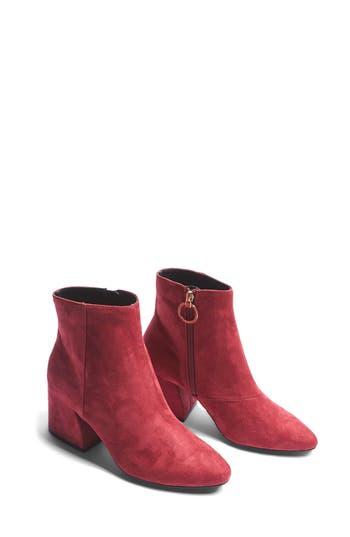 Topshop Brooke Micro Ankle Bootie - Burgundy