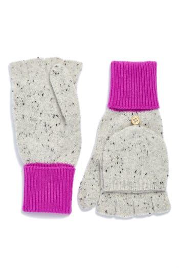 Women's J.crew Glitten Cashmere Gloves, Size One Size - Pink