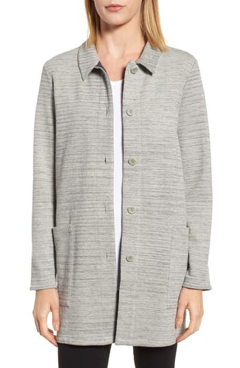 Petite Women's Eileen Fisher Cotton Blend Tweed Jacket at NORDSTROM.com