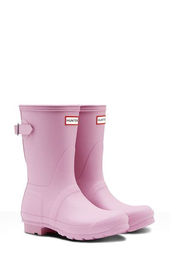 Hunter Original Short Back Adjustable Rain Boot, Pink