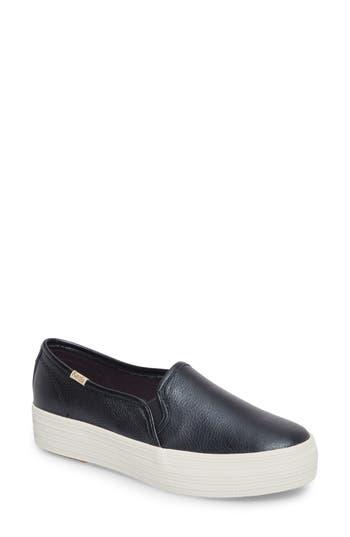 Keds For Kate Spade New York Triple Decker Slip-On Platform Sneaker, Blue