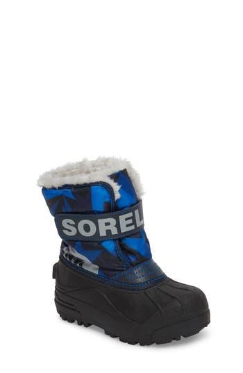 Boys Sorel Childrens Snow Commander Insulated Waterproof Boot
