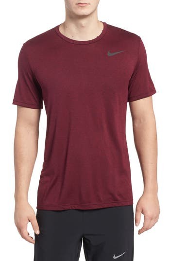 Nike Hyper Dry Training Tee, Burgundy