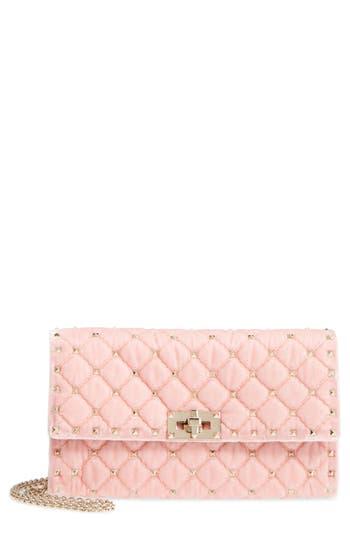 Valentino Garavani Rockstud Velvet Clutch - Pink
