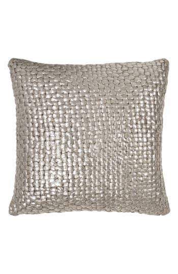 Michael Aram Metallic Basket Weave Accent Pillow, Size One Size - Beige