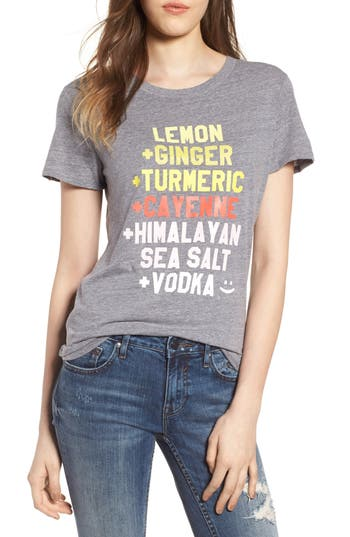 Women's Sub Urban Riot Lemon Ginger Loose Tee, Size X-Small - Grey