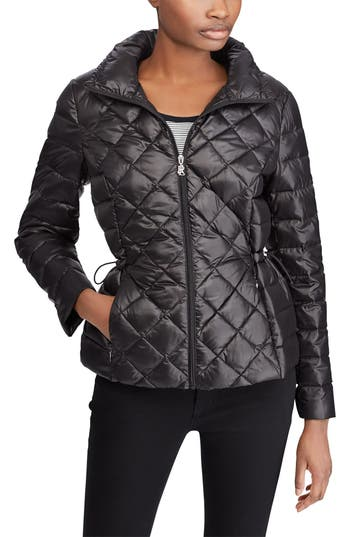 Lauren Ralph Lauren Packable Quilted Down Jacket, Black