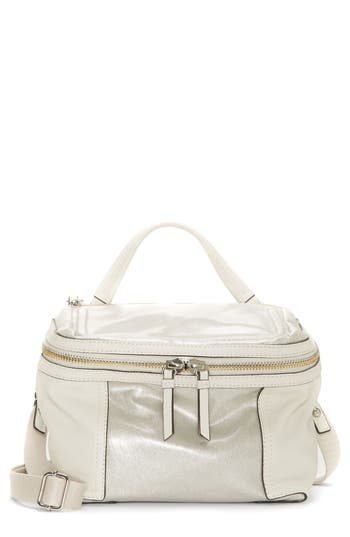 Vince Camuto Medium Patch Nylon & Leather Crossbody Bag - Metallic