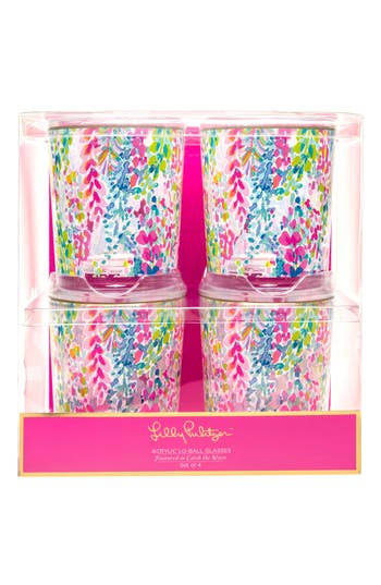 Lilly Pulitzer Set Of 4 Tumblers, Size One Size - Pink