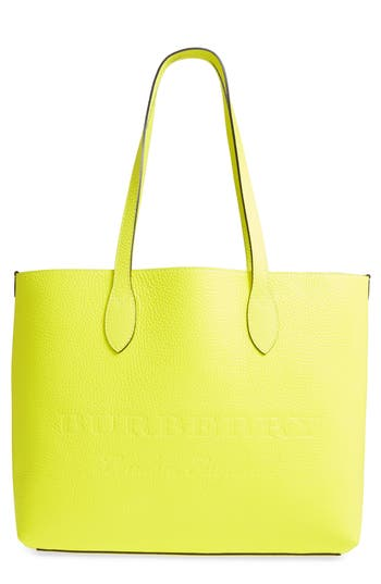 Burberry Large Remington Logo Leather Tote - Yellow at NORDSTROM.com