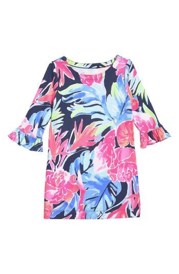 Girl's Lilly Pulitzer Mini Sophie Upf 50+ Dress, Size XL (12-14) - Blue