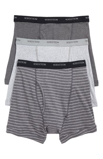 Nordstrom Men's Shop 3-Pack Supima® Cotton Boxer Briefs