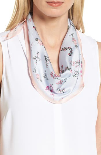 Women's Rebecca Minkoff Pressed Flowers Diamond Silk Scarf