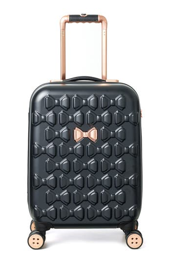Ted Baker London Small Beau 22-Inch Bow Embossed Four-Wheel Trolley Suitcase