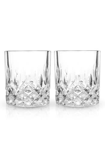 Viski Admiral Set Of 2 Double Old-Fashioned Glasses, Size One Size - White
