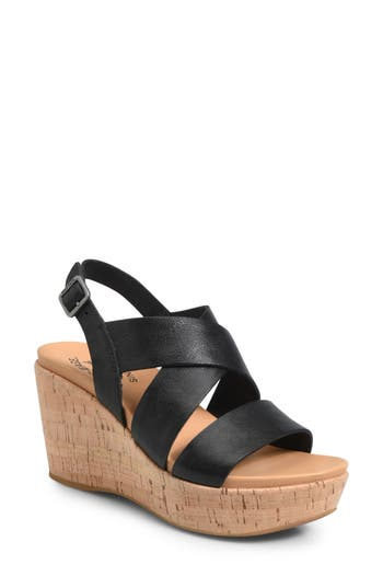 Kork-Ease Ashcroft Wedge Sandal, Black