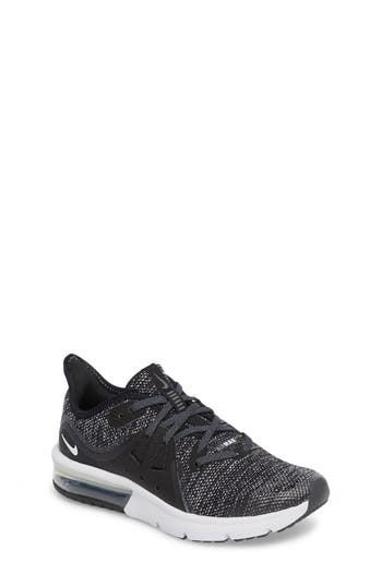 Boys Nike Air Max Sequent 3 Gs Running Shoe Size 4 M  Black