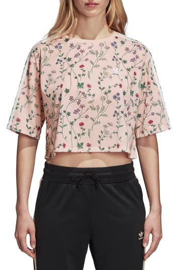 Adidas Originals Floral Graphic Tee, Pink