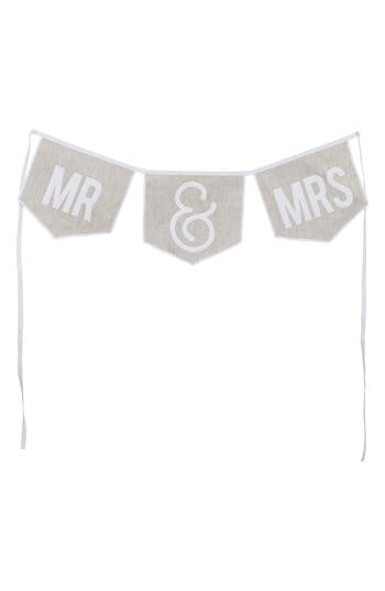Glory Haus Mr & Mrs Banner, Size One Size - White